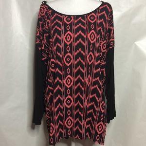 Tops - Peach design blouse